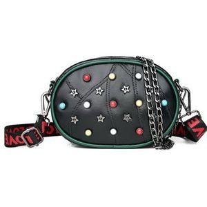 Handbags - Studded Star Love Black Waist Bag Fanny Pack